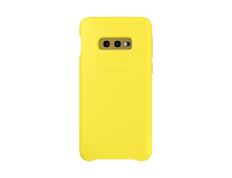 Samsung S10e G970 Leather Cover жълт артикул EF-VG970LYEGWW