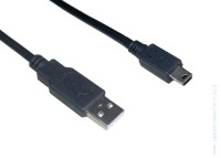 Кабел USB 2.0 AM / Mini USB 5pin CU215 3 метра