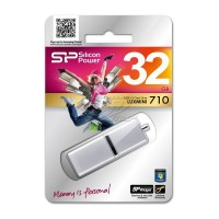 Silicon Power LuxMini 710 64GB USB памет сребрист