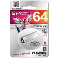 Silicon Power Touch 830 64GB USB памет сребрист