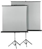 Hama 125x125 cm Tripod projection screen Duo Silver/White Екран за проектор