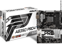 AsRock AB350-PRO4 AM4 Ryzen ATX LED lighting Дънна платка