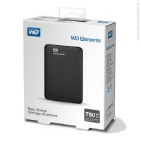 Твърд диск Western Digital 750GB USB 3.0 Elements Portable черен
