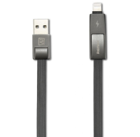 Кабел за данни 2 в 1 micro USB + iPhone Lightning Remax 1м черен