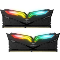 TEAM T-FORCE NIGHT HAWK BLACK RGB DDR4 16GB (2X8GB) 3200MHZ Памет