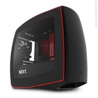 Кутия NZXT Manta Matte Black + Red черен-червен