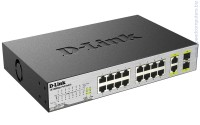 D-Link DES-1018MP 16-Port PoE Switch with 2 1000Base-T/SFP Combo Port