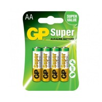 Алкална батерия GP SUPER LR6 AA 4 бр. в опаковка