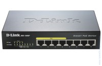 Комутатор D-Link DGS-1008P 8-port 10/100/1000 Desktop Switch with 4 PoE Ports