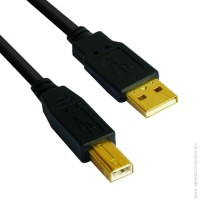 Кабел USB 2.0 AM / BM High Grade GOLD - CU201G-B 5 метра