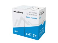 мрежови кабел UTP SOLID CAT 5E 305 метра сив