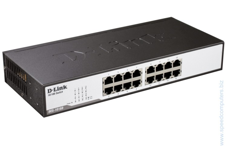 D-Link DES-1016D 16-Port 10/100Mbps Fast Ethernet Unmanaged Switch артикул DES-1016D