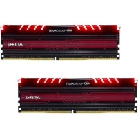 TEAM GROUP DELTA RED DDR4 - 16GB (2X8GB) 3000MHZ Памет