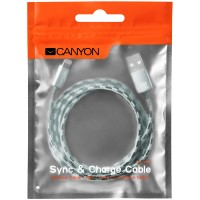 CANYON Braided USB to lightning cable Зелен кабел за iPhone