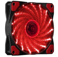 Makki Fan 120mm - 15 RED LED lights вентилатор