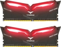TEAM T-FORCE NIGHT HAWK BLACK Red DDR4 32GB (2X16GB) 3200MHZ Памет