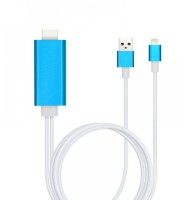 iPhone Apple Lightning (iPhone 5/6/7/SE) към HDMI, 1.5м - USB кабел