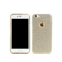 Протектор за iPhone 6/6S Plus, Remax Glitter, TPU, Slim, Златист