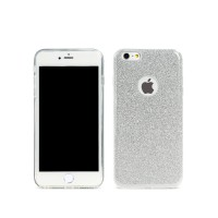 Протектор за iPhone 6/6S Plus, Remax Glitter, TPU, Slim, Сребрист