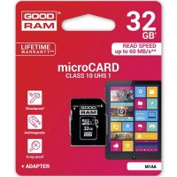 Карта памет GOODRAM 32GB MICRO CARD class 10 UHS I + adapter