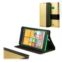 MOZO Wallet T-Bar Case for Microsoft Lumia 535 Gold калъф за смартфон